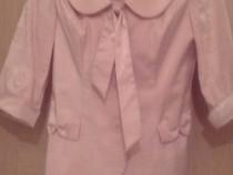 Costum elegant roz-prefuit 2 piese, marime 38, aproape nou
