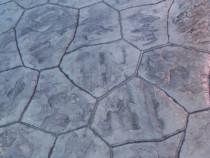 Pavaj din beton amprentat.
