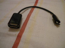 Cablu otg microusb tată cu usb mamă nou