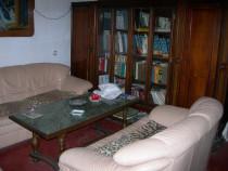 Canapele fixe, din piele, 2 buc, de 2 si 3 persoane