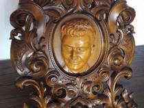 Rama sculptata Nicolae Ceausescu