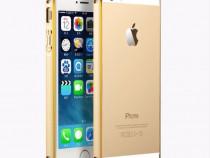 Bumper Metalic Slim 0.55MM Love Mai Pentru Iphone 5 5s