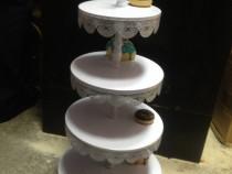 Suport  cupcake candy bar 4 etaje