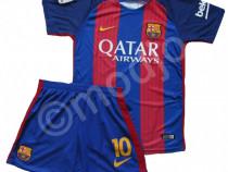 Compleu echipament fotbal neymar messi suarez fc barcelona