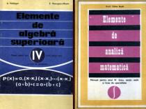 2 manuale matematică din 1975