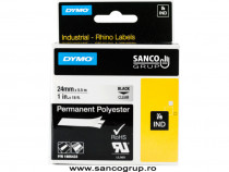Banda ID1, poliester permanent, 24 mm x 5,5 m, transparent,