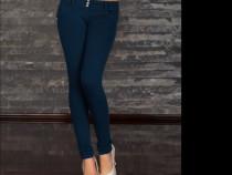 Pantaloni Viva bleumarin (am Zara, Mexton, BBY, Versace, Gue