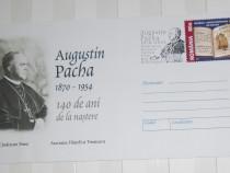 """Întreg poștal cu episcopul """"Augustin Pacha"""" (Timișoara)"""