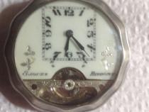 Ceas argint buzunar Hebdomas tragere la 8 zile