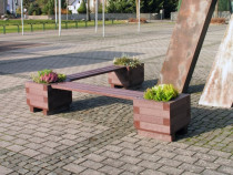 Banca parc cu jardiniera BPM21