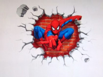 Sticker \ Abtibild Spiderman 3D camera copil 45 x 50 cm