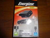 -40 % Redus,Kit Incarcare:Retea 220v+Auto 12v,Energizer. NOU