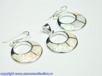Set bijuterii argint rodiat Model ST888965