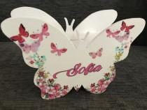 Pusculita personalizata Minnie/fluture