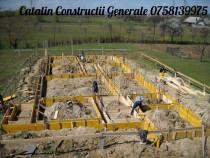 Fundatii din beton cu panouri Doka executam in Baia Mare