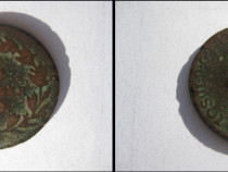 Moneda veche Austria Ein (1) Kreuczar 1781 bronz 2cm.