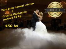Fum greu dansul mirilor+ gheata carbonica Bucuresti - Ilfov