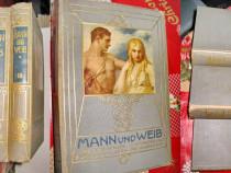 6683-I-Set 3 Carti Mann und Weib-Barbatul si Femeia cca 1900