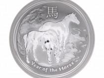 Moneda de Argint Lunar II Series Horse 2014 1oz