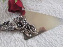 Miniatura de argint paleta pentru tort semnata angini
