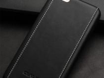 Husa piele neagra cu alb qialino iphone 6 plus / 6s plus