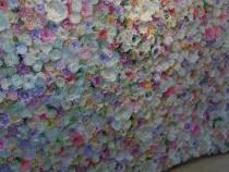 Panou cu flori de hartie pentru nunta - evenimente
