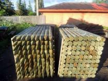 Stalpi din lemn tratat pentru gard - livrare oriunde in tara