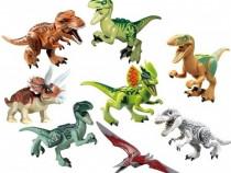 Set 8 Dinozauri tip Lego Jurassic World cu Indominus Rex