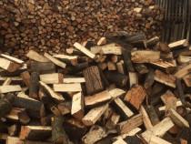 Depozit lemn, lemne de foc tăiate si despicateoc