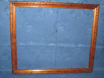 Rama veche maronie cu model nr2. Marimi: interior-39_33cm