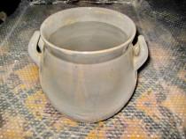 2839-Oala rustica groasa ceramica veche. Stare buna.