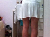 Rochie alba, de vara, spatele gol, noua cu eticheta, s