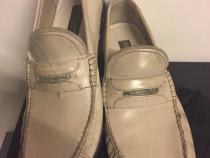 Pantofi mocasini Dolce&Gabbana,ivory antico,produs original