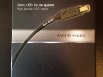 Cablu interconect USB type A-B Real Cable (Franta) 2m, nou