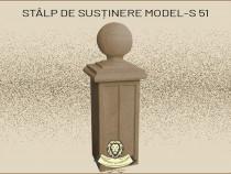 Stalp sustinere garduri din beton model S51.
