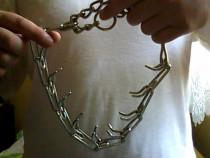 Zgarda din metal cu coltari antiforta caine talie mare