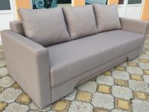 Canapea extensibila cu perne si lada de depozitare