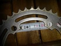 Foaie placa aluminiu pt. angrenaj pedalier 5 gauri 42 dinti