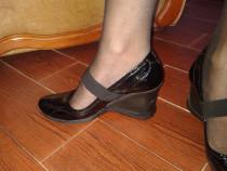 Pantof dama piele lacuita