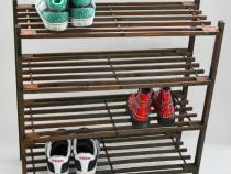 Raft din lemn cu 4 etajere pt pantofi - pantofar - nou