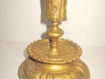 4768-Sfesnic antic Franta bronz dore aurit anii 1900.