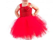 Rochita rosie copii,rochii de ocazii copii,rochii Craciun