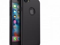 Husa 360 Din Plastic Fata Spate Folie Sticla Iphone 7 7 Plus
