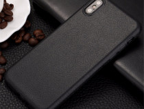 Iphone x 10 - husa ultra slim din silicon imitatie piele