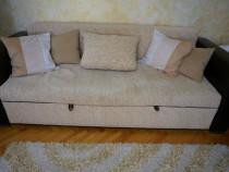 Set canapea extensibila si 2 fotolii fixe sufragerie / livin