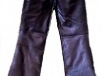 Pantaloni negri din piele naturală Milan - noi