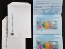 Set de 2 bancnote de 2.000 de lei cu eclipsa din 1999 UNC