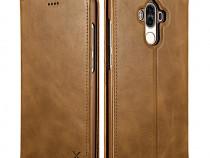 Husa piele naturala Xoomz Huawei Mate 9 magnetica maro