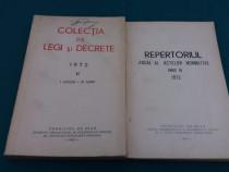 Lot 2 cărți legislație anul 1972