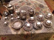 Set portelan argintat pentru ceai - cafea Bavaria Dekor